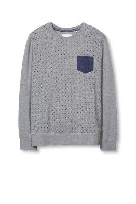 Sweater imprimé point avec poche