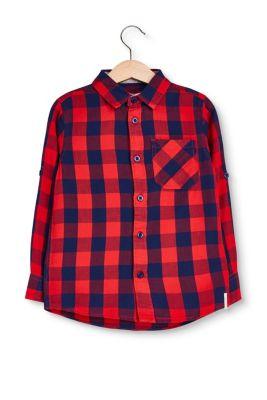 Glencheck-Hemd aus 100% Baumwolle bei Esprit