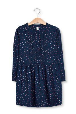 Fließendes Kleid mit Allover-Herzchen-Print bei Esprit