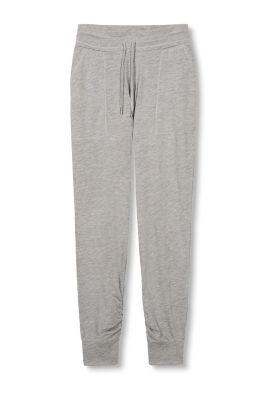 Esprit Jersey broek met gerimpelde