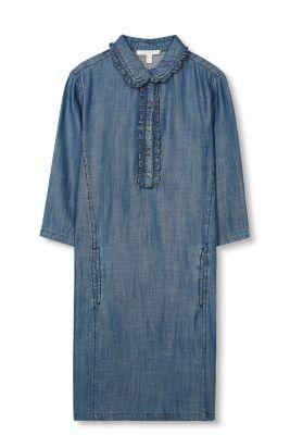 Esprit Speelse jurk met denim look