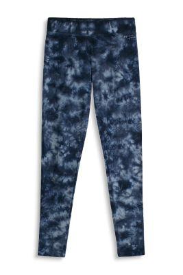 Esprit Gebatikte broek van stretch-katoen Navy for Women