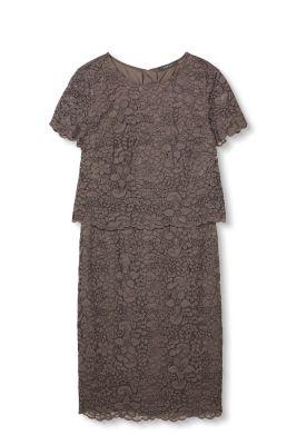 Esprit 2in1 jurk van kant Taupe