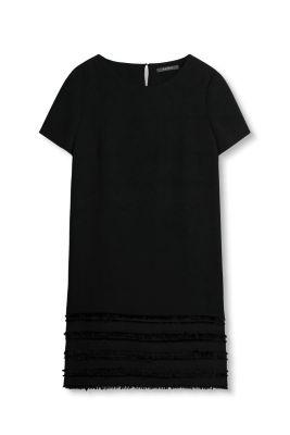Esprit Crêpe jurk met rafelige