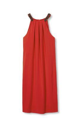 Esprit Soepele jersey jurk Red for