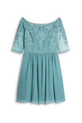 Esprit Schouderloze jurk van tule