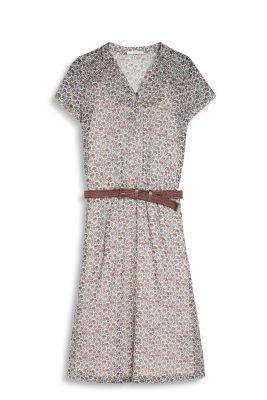 Esprit Soepele jurk met ceintuur