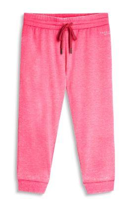 Esprit Zachte sweatbroek van een katoenmix Pink Fuchsia for Women