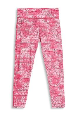 Esprit Gebatikte legging met ornamentprint Pink Fuchsia for Women