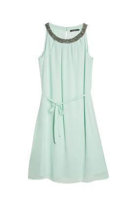 Esprit Chiffon jurk met versierde