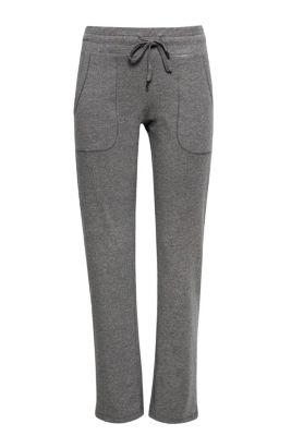 Esprit Zachte sweatbroek van een katoenmix Dark Grey for Women