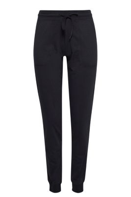 Esprit Lichte sweatbroek, katoen-stretch Black for Women