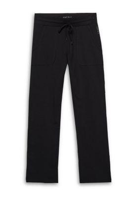 Esprit Broek van verzorgde jersey met stretch Black for Women