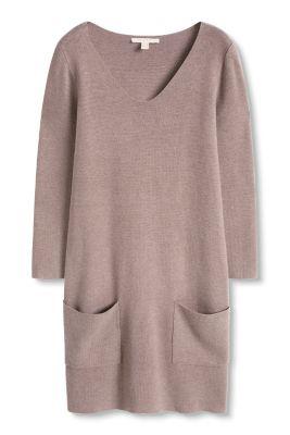 Esprit Gebreide jurk met zakken