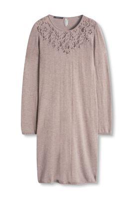 Esprit Fijngebreide jurk met kant