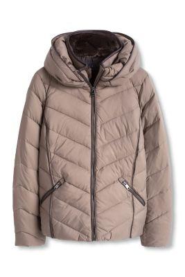 Esprit Gewatteerde jas met dons en