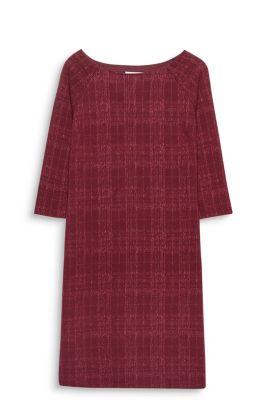 Esprit Kokerjurk met structuur Garnet Red for Women