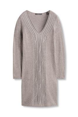Esprit Gebreide jurk met glanzend