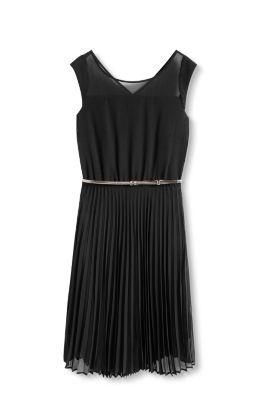 Esprit Chiffon jurk met plissérok