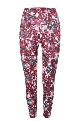 Esprit Perfect fit active broek met print, E-DRY Off White for Women