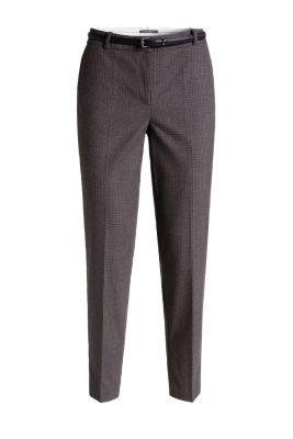 Esprit Geruite pantalon met riem