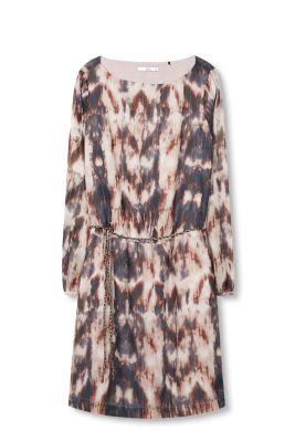 Esprit Printed crêpe jurk met