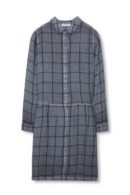 Esprit Geruite jurk met washed