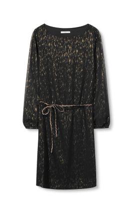 Esprit Crêpe jurk met lurexeffect