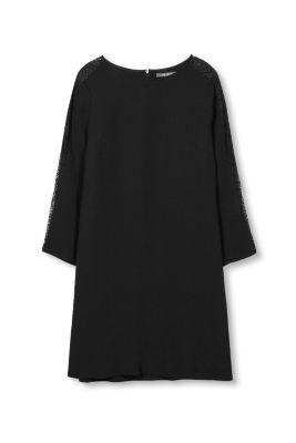 Esprit Crêpe shirtjurk met kant
