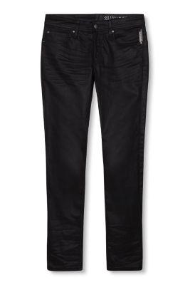 Esprit Coated stretchjeans Black
