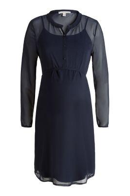 Esprit Chiffon jurk met jersey