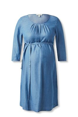 Esprit Soepele jurk met denimlook