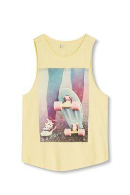 Esprit Mädchen,Kinder Tanktop mit Foto-Print aus Baumwolle gelb | 3663760531596