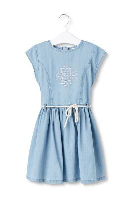 Esprit Geborduurde denim jurk 100%