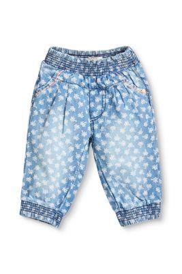 Esprit Baby,Kinder Baumwolle-Hose mit Palmen-Print und Gummizugbund blau | 3663760759839
