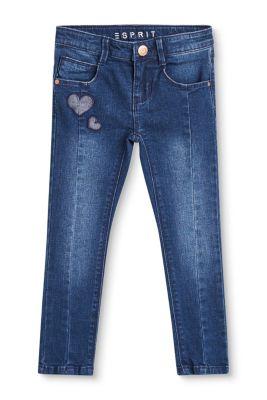 Esprit Mädchen,Kinder Stretch-Jeans mit Herz-Patches blau | 3663760711608
