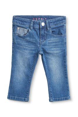 Esprit Mädchen,Kinder Capri-Stretch-Jeans mit Kaktus-Stickerei blau | 3663760764215