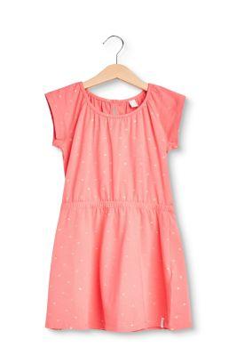 Esprit Mädchen,Kinder Jersey-Kleid mit Metallic-Print, Baumwoll-Stretch  | 3663760737769