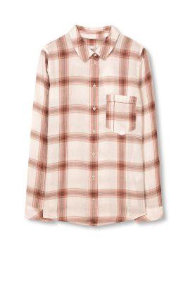 Esprit Geruite blouse, 100% katoen Blush for Women