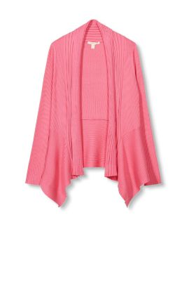 Esprit Geribd vest van zacht, fijn breisel Pink Fuchsia for Women