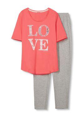 Esprit Pyjama van lichte jersey Coral for Women