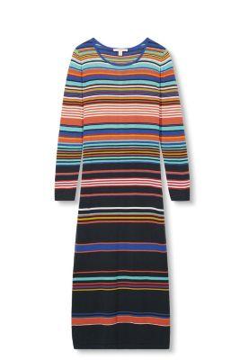 Robe-pull multicolore, 100 % coton