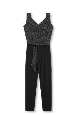 Esprit Stijlvolle jumpsuit van stretch-jersey Black for Women