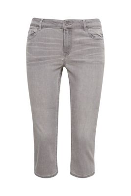 Pantacourt en jean stretch doux