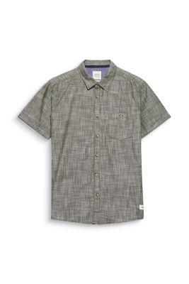 Chemise à manches courtes de teinte pigmentaire, en coton