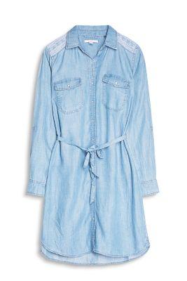 Robe-chemise look denim