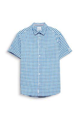 Chemise à manches courtes et carreaux vichy, en coton mélangé