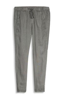 Pantalon bouffant décontracté,100 % lin