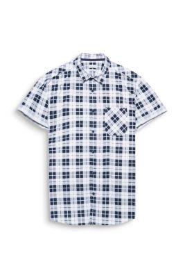 Chemise à carreaux et manches courtes, en 100 % coton
