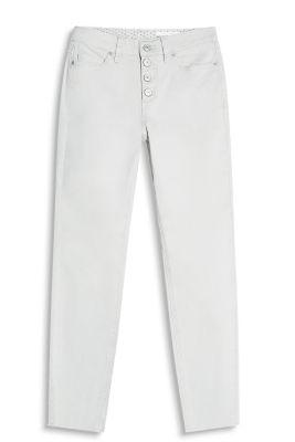 Stretchbroek met garment wash